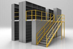 steel shelving mezzanine