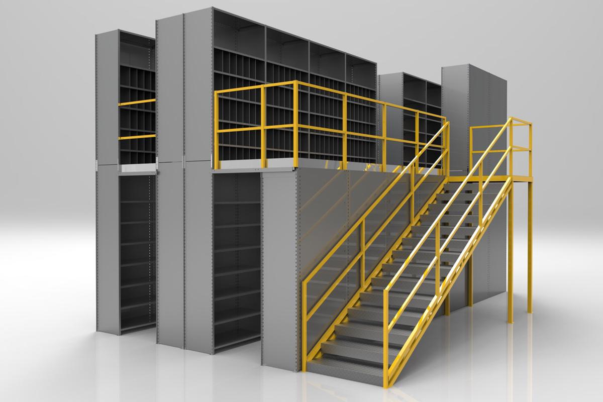 Steel Shelving Mezzanine Rack Systems Inc