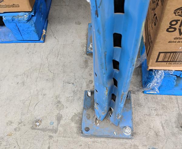damaged pallet racking post