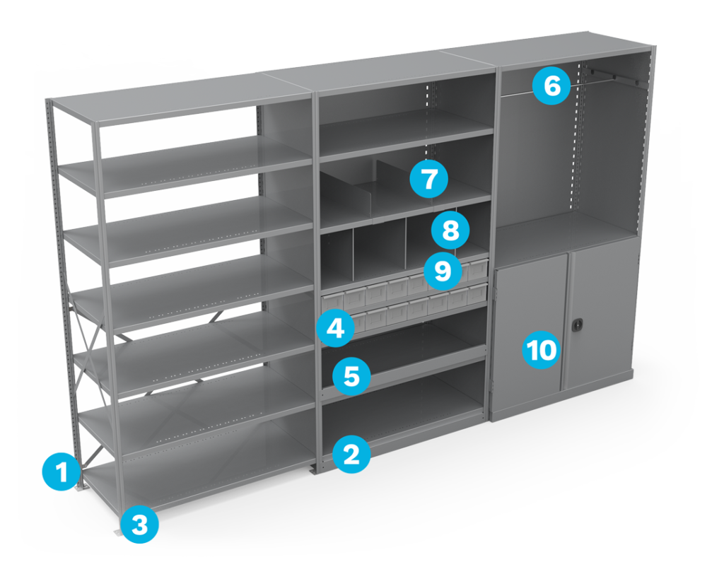 metalware-shelving-components