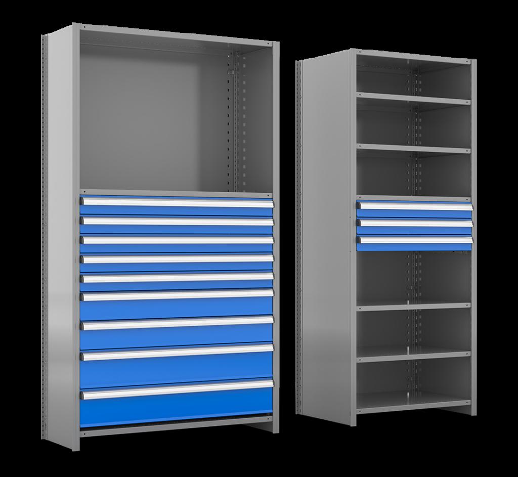 metalware-drawersin-shelving