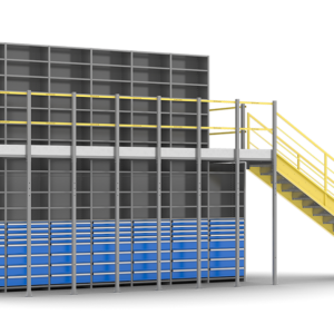 multi-tier-shelving-supported-structure